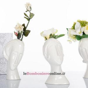 """Vaso in porcellana """"teste di Modigliani"""" Cuorematto"""