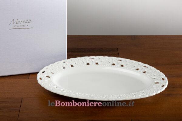 Piatto in porcellana Morena