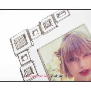 Portafoto in porcellana con strass Cuorematto